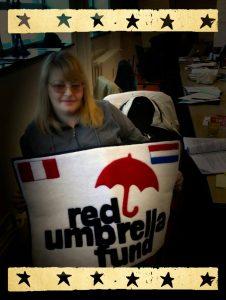 Elena with Red Umbrella Fund